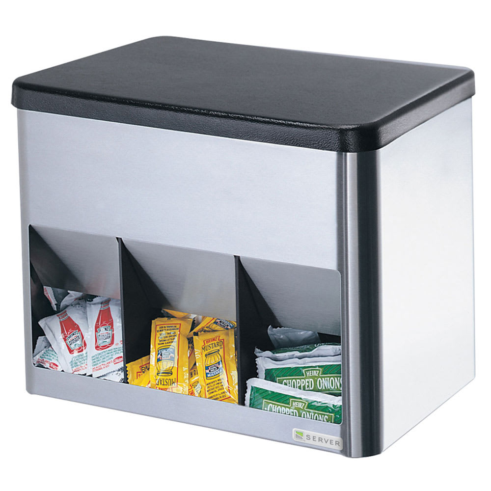 Server 85090 Portion Pack Organizer, 3 Compartment, SS & ABS