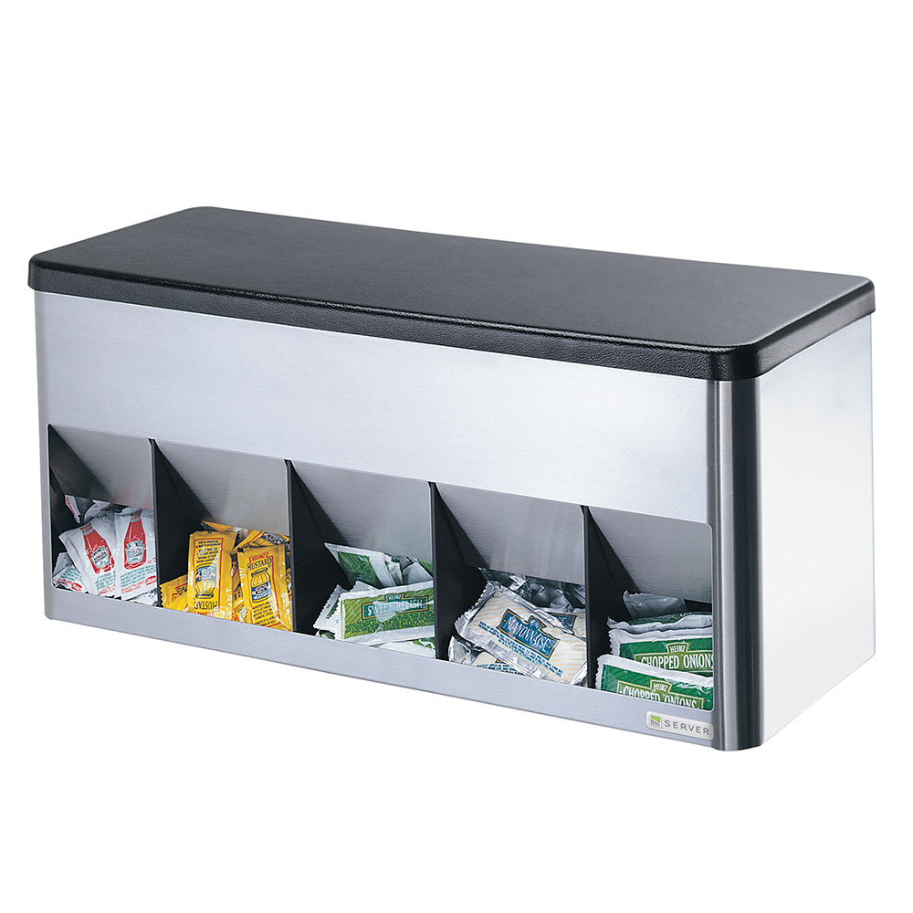 Server 85140 Portion Pack Organizer, 5 Compartment, SS & ABS