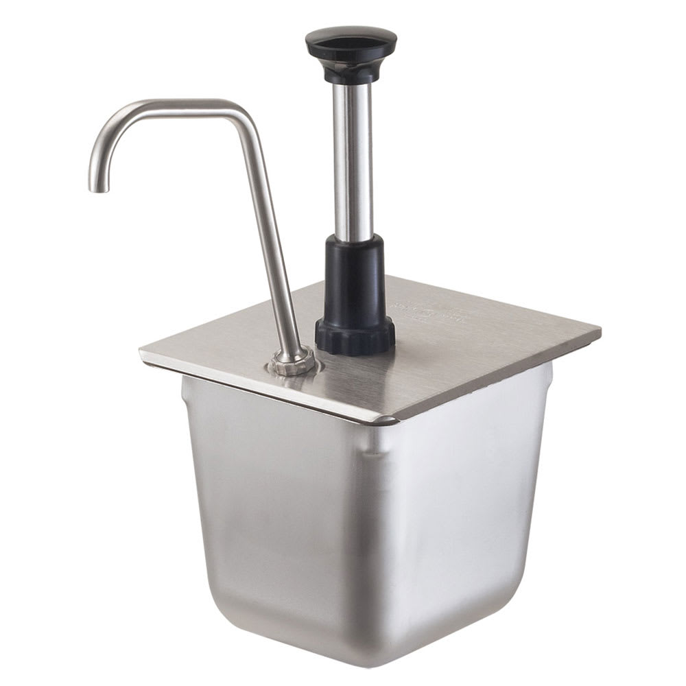 Server 86312 Condiment Syrup Pump Only w/ 1-oz/Stroke Capacity, Stainless