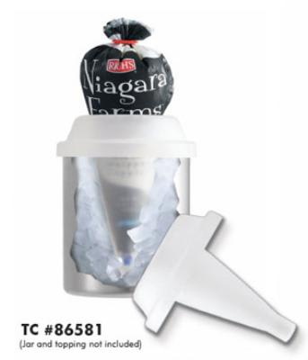 Server 86581 Topping Caddy, Countertop, Whipped Topping Bag Storage, Ice Fill