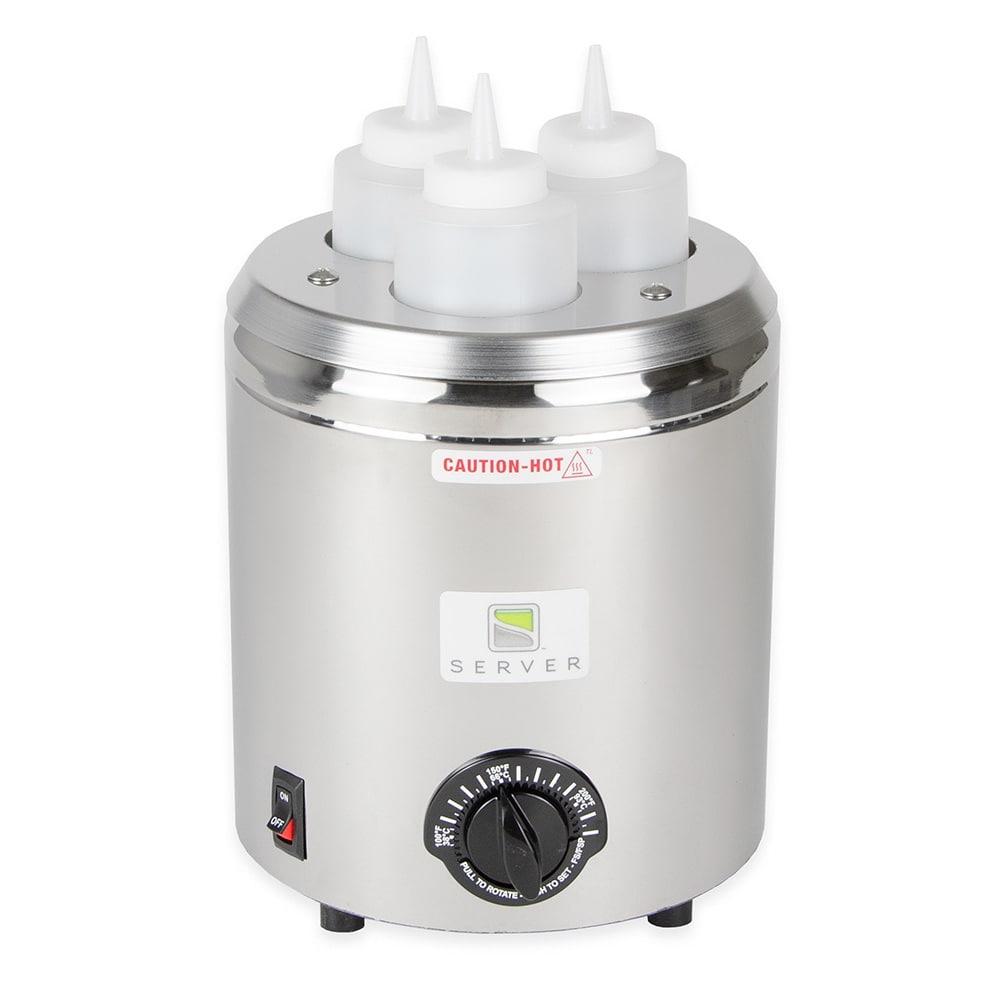 Server 86810 Topping Warmer, Includes (3) 16 oz Squeeze Bottles