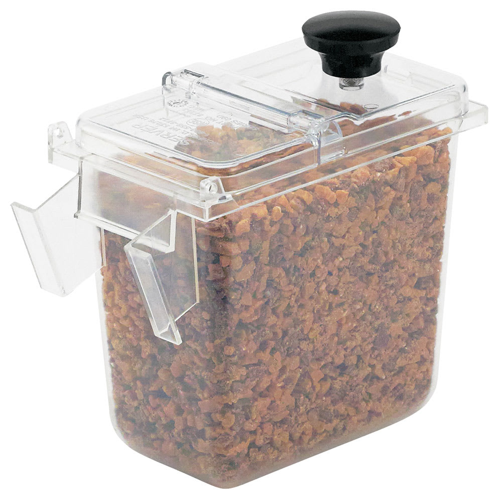 Server 87199 Wall Mount 1/9 Size Jar w/ 1.9 qt Capacity, Clear