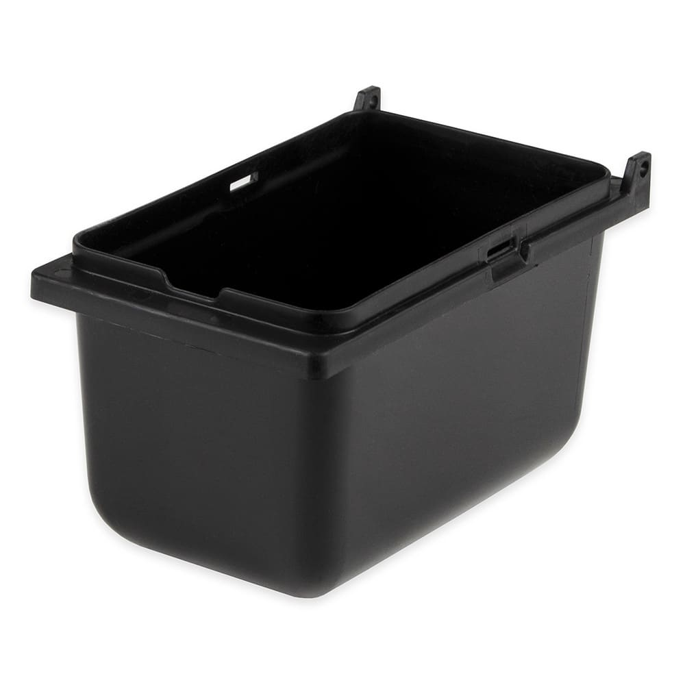 "Server 87202 1/9 Size Plastic Jar for Server Mini Rails, Lid Not Included, 3 1/2""D, Black"