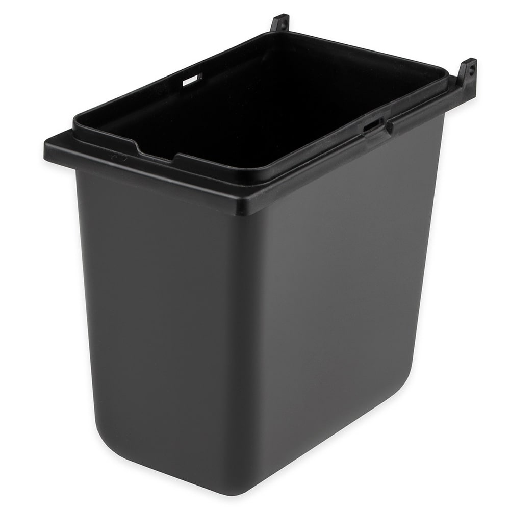 "Server 87203 1/9 Size Plastic Jar for Server Mini Rails, Lid Not Included, 6""D, Black"