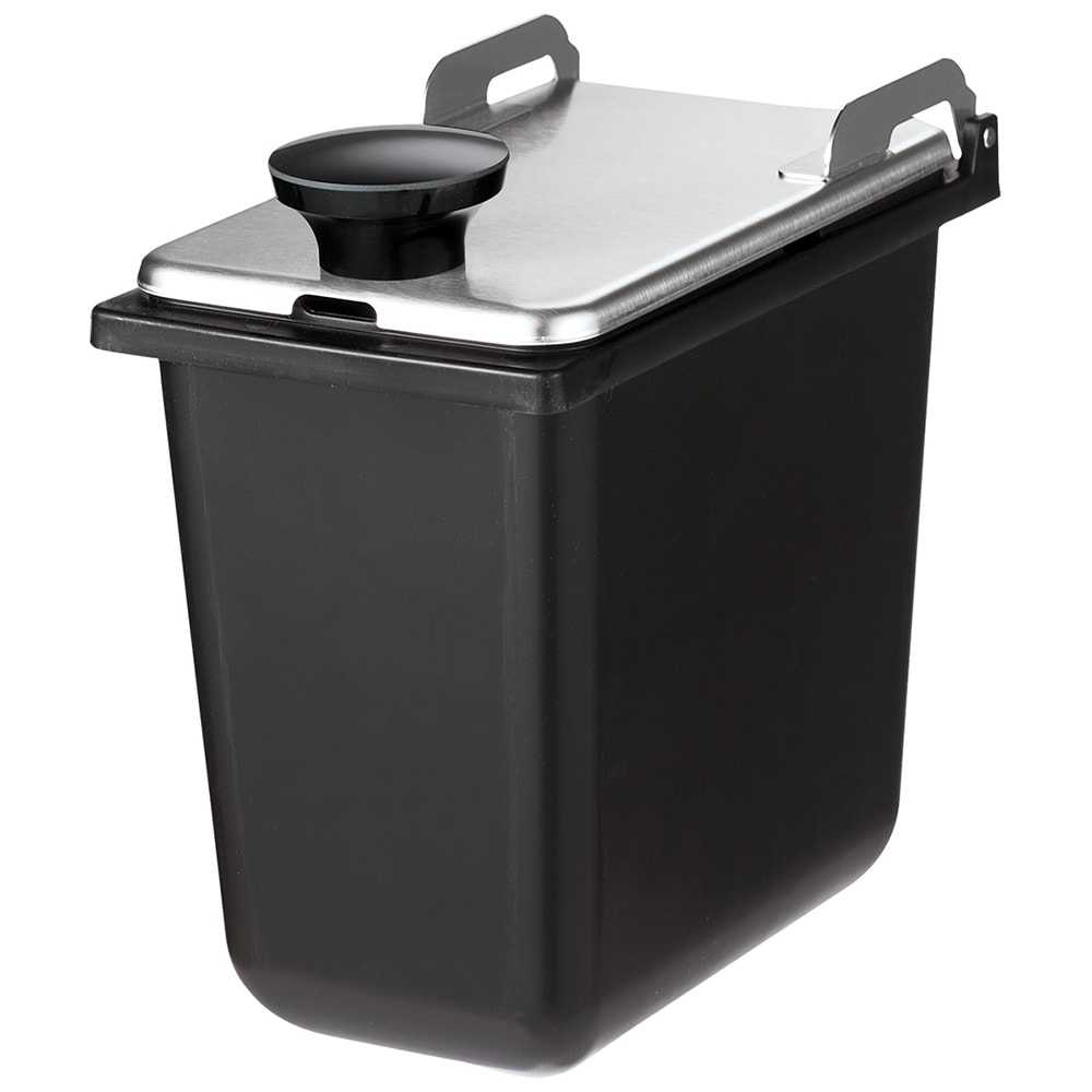 "Server 87229 Jar & Stainless Steel Hinged Lid, Use with Mini Rails, 1/9 Size, 6""Deep"