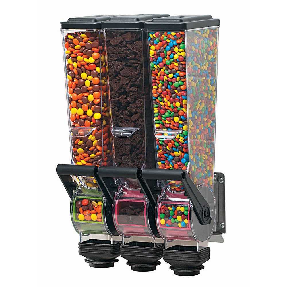 Server 88770 Dry Product Dispenser, Triple, (3) 2 Liter, Wall Mount