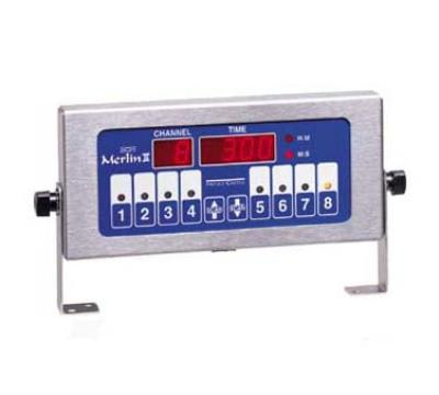 Prince Castle 740-T8 8-Channel Single Function Electric Timer, Bold LCD Readout, 120v