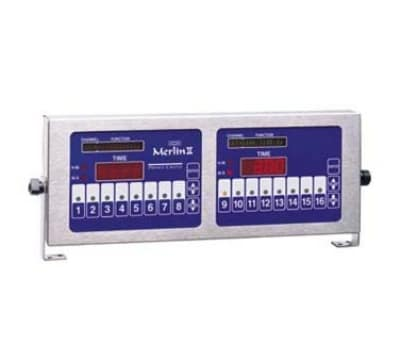 Prince Castle 840-T16D 16-Channel Double Multi-Function Electric Timer, Bold LCD Readout, 120v