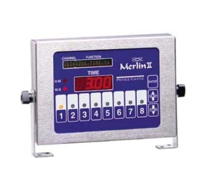 Prince Castle 840-T8 8-Channel Multi-Display Horizontal Electric Timer, Bold LCD Readout, 120v