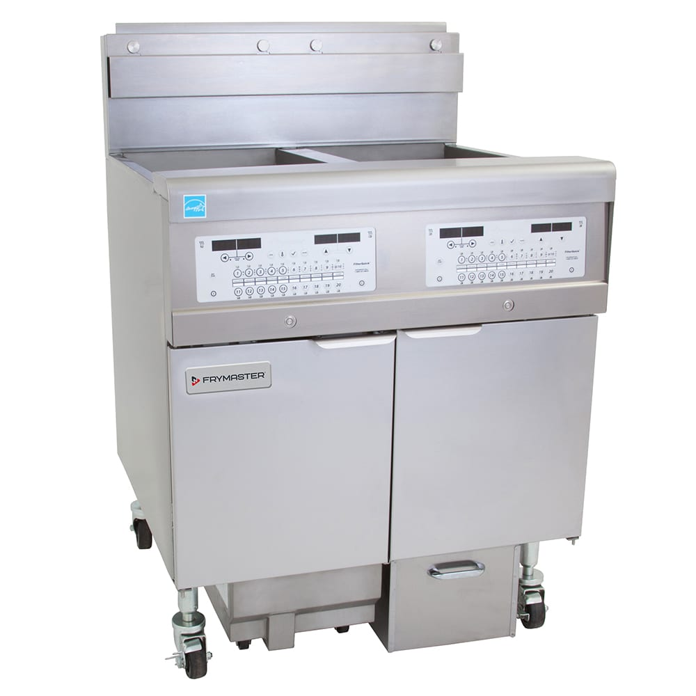 Frymaster 2FQG30U Gas Fryer - (2) 30 lb Vat, Floor Model, LP