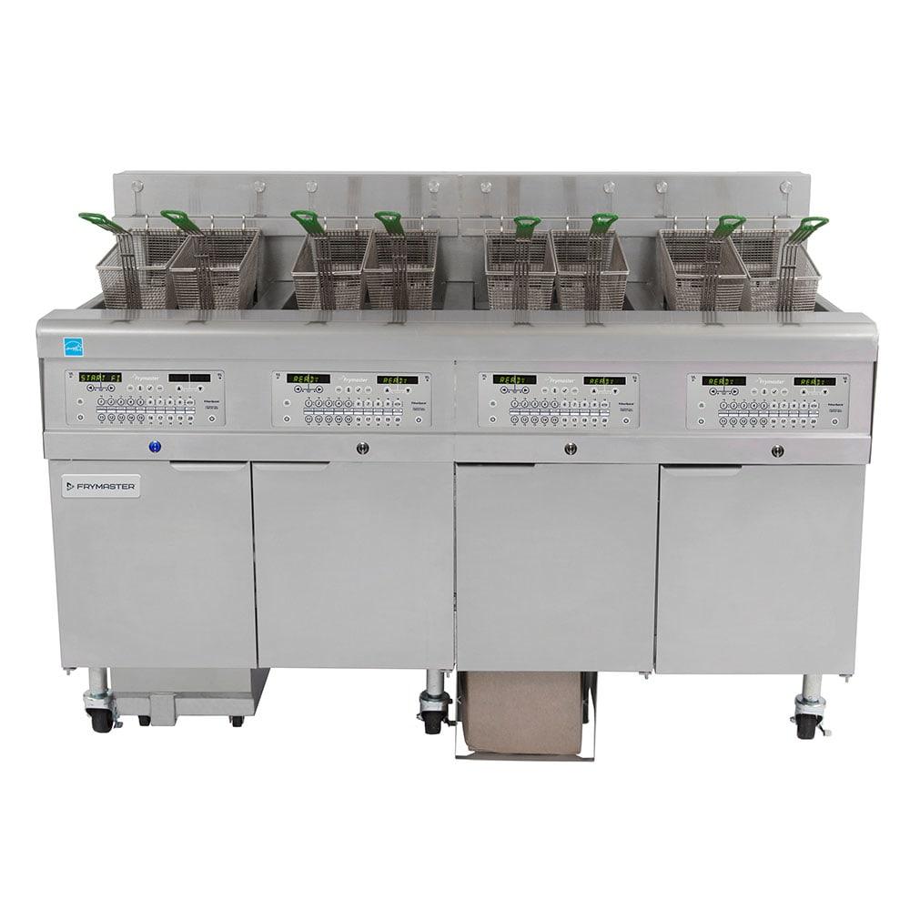 Frymaster 4FQE30U Electric Fryer - (4) 30 lb Vat, Floor Model, 208v/3ph