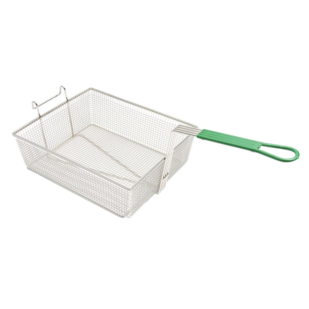 "Frymaster 803-0015 Fryer Basket w/ Coated Handle & Front Hook, 14"" x 11.75"" x 4.68"""