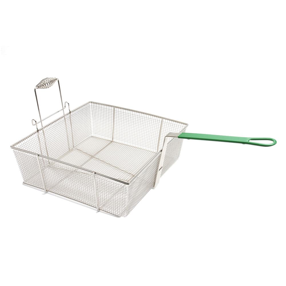 "Frymaster 803-0017 Fryer Basket w/ Coated Handle & Front Hook, 17.5"" x 16.75"" x 6"""