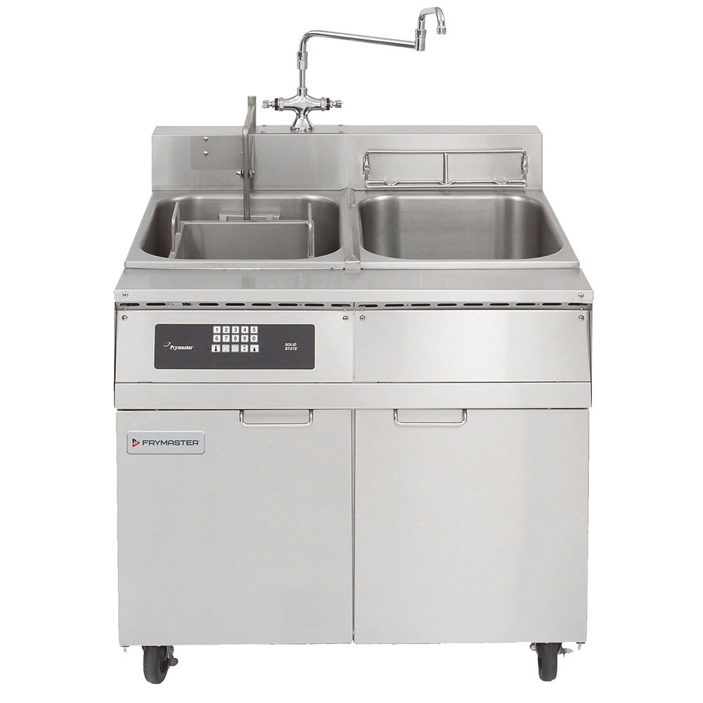 Frymaster 8SMS Single Tank Pasta Cooker w/ Rinse Tank, Lift, Stainless, 8 Kw, 208v/1ph
