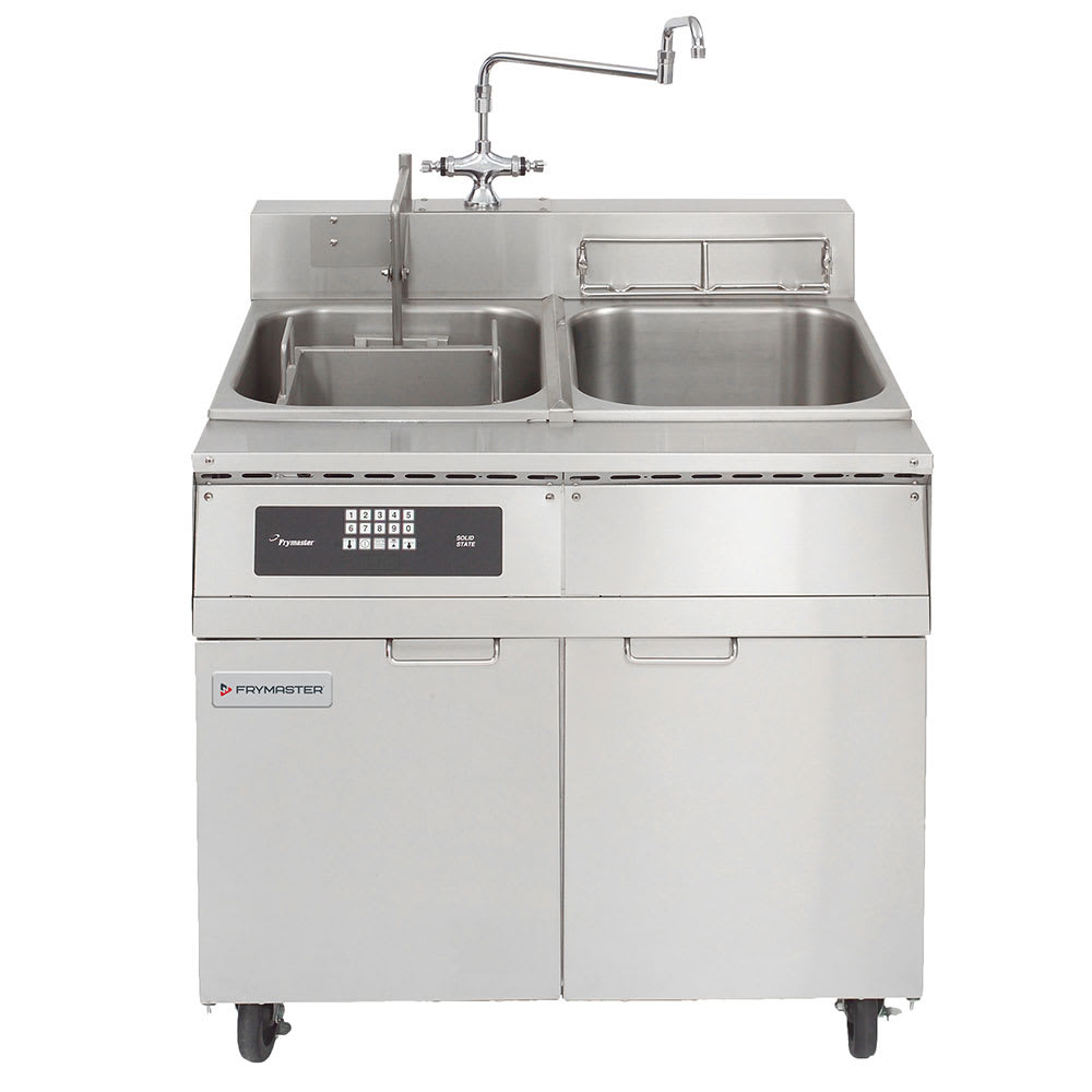 Frymaster 8SMS Single Tank Pasta Cooker w/ Rinse Tank, Lift, Stainless, 8 Kw, 208v/3ph