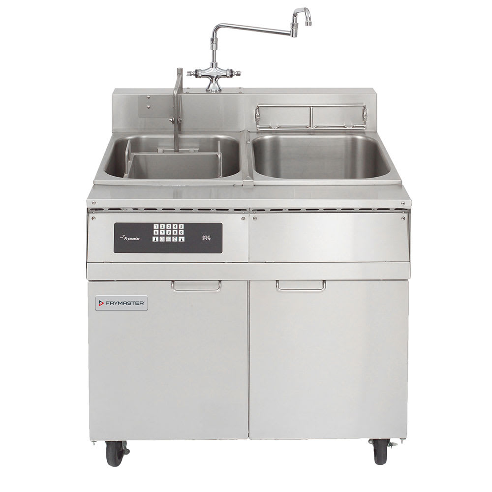 Frymaster 8SMS Single Tank Pasta Cooker w/ Rinse Tank, Lift, Stainless, 8 Kw, 240v/3ph
