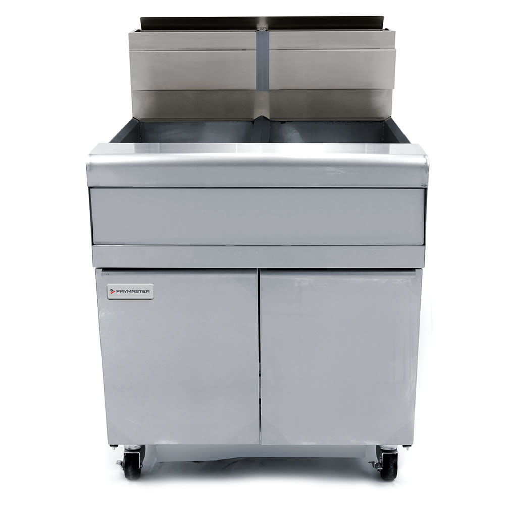 Frymaster FMJ250 Gas Fryer - (2) 50 lb Vats, Floor Model, NG