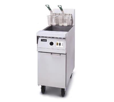 Frymaster MJ45 Gas Fryer - (1) 50-lb Vat, Floor Model, Stainless Cabinet, NG