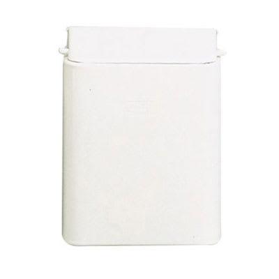 Rubbermaid FG10 Sanitary Napkin Receptacle - Wall Mount, (3) Bags, Steel, White