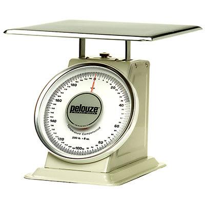 Rubbermaid FG10200 Pelouze Dial Type Portion Scale - 200-lb x 8-oz, Enamel/Chrome