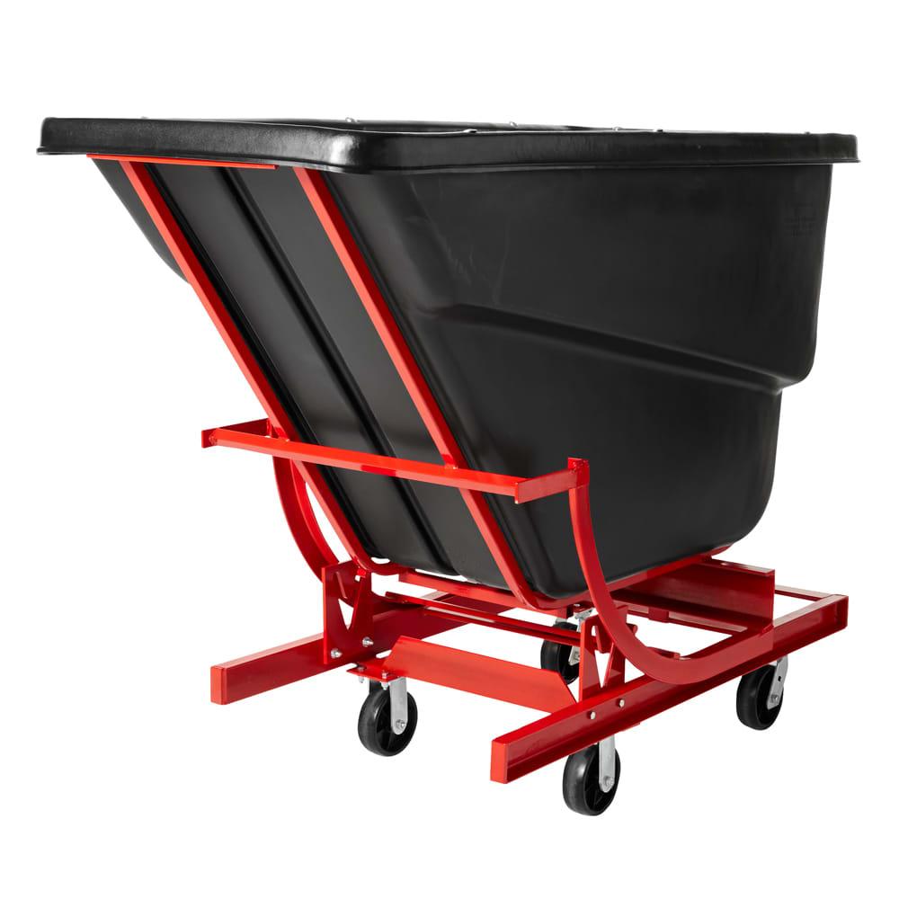 Rubbermaid FG105943BLA 1-cu yd Trash Cart w/ 1000-lb Capacity, Black