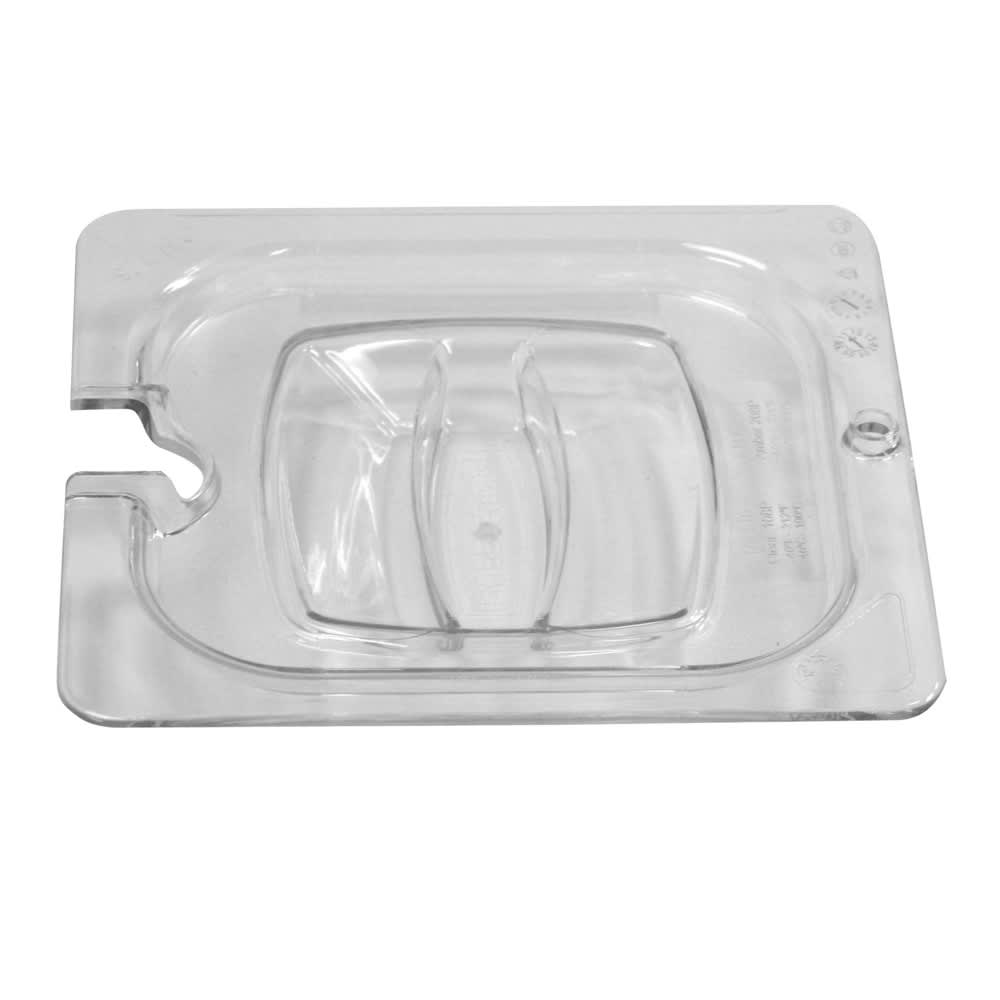 Rubbermaid FG108P86CLR Cold Food Pan Cover - 1/6 Size, Notched, Poly