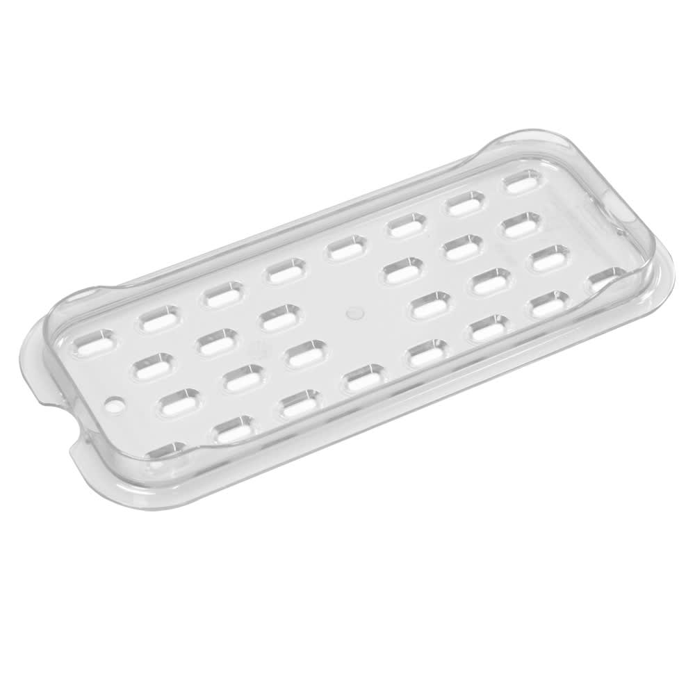 Rubbermaid FG120P24CLR Cold Food Pan Drain Tray - 1/3 Size, Clear