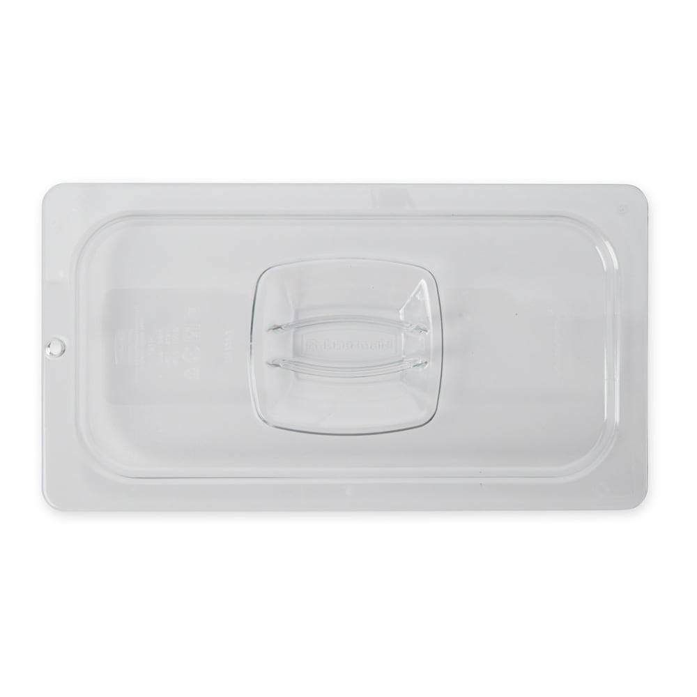Rubbermaid FG121P23CLR Cold Food Pan Cover - 1/3 Size, Clear Poly