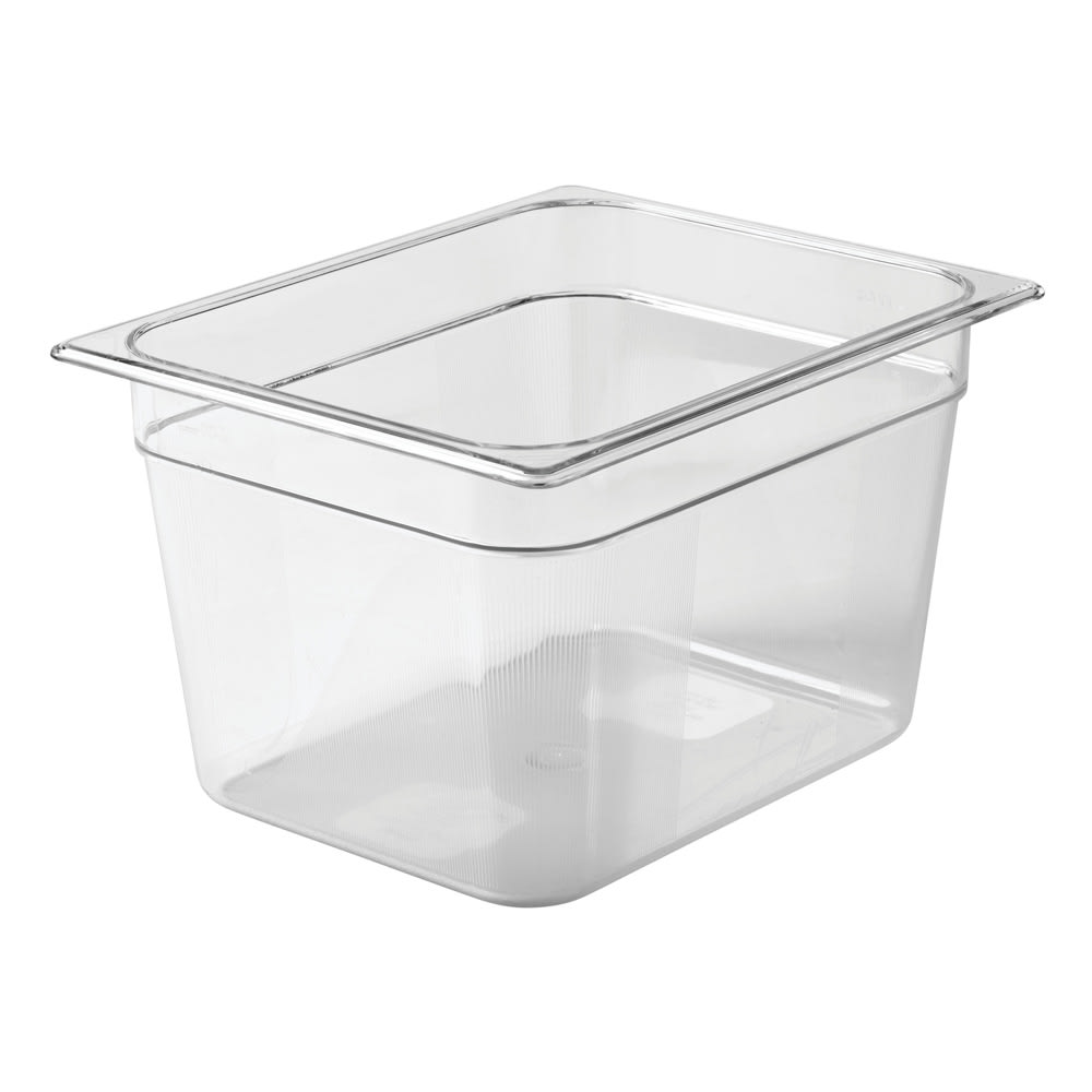 "Rubbermaid FG126P00CLR Cold Food Pan - Half Size, 8"" Deep"