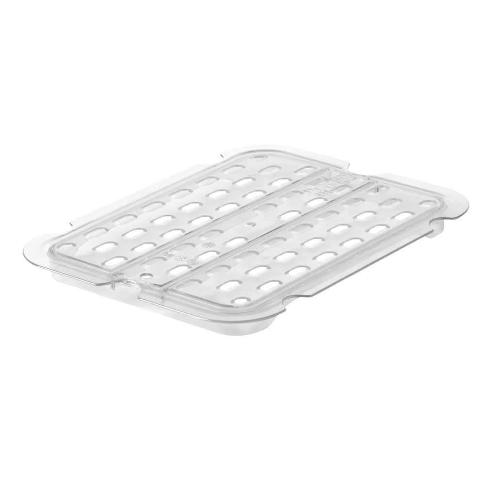 Rubbermaid FG127P24CLR Cold Food Pan Drain Tray - Half Size, Clear
