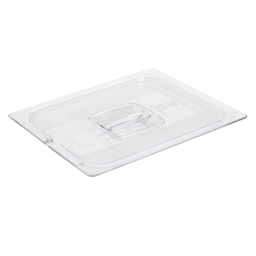 Rubbermaid FG128P23CLR Cold Food Pan Cover - Half Size, Clear Poly