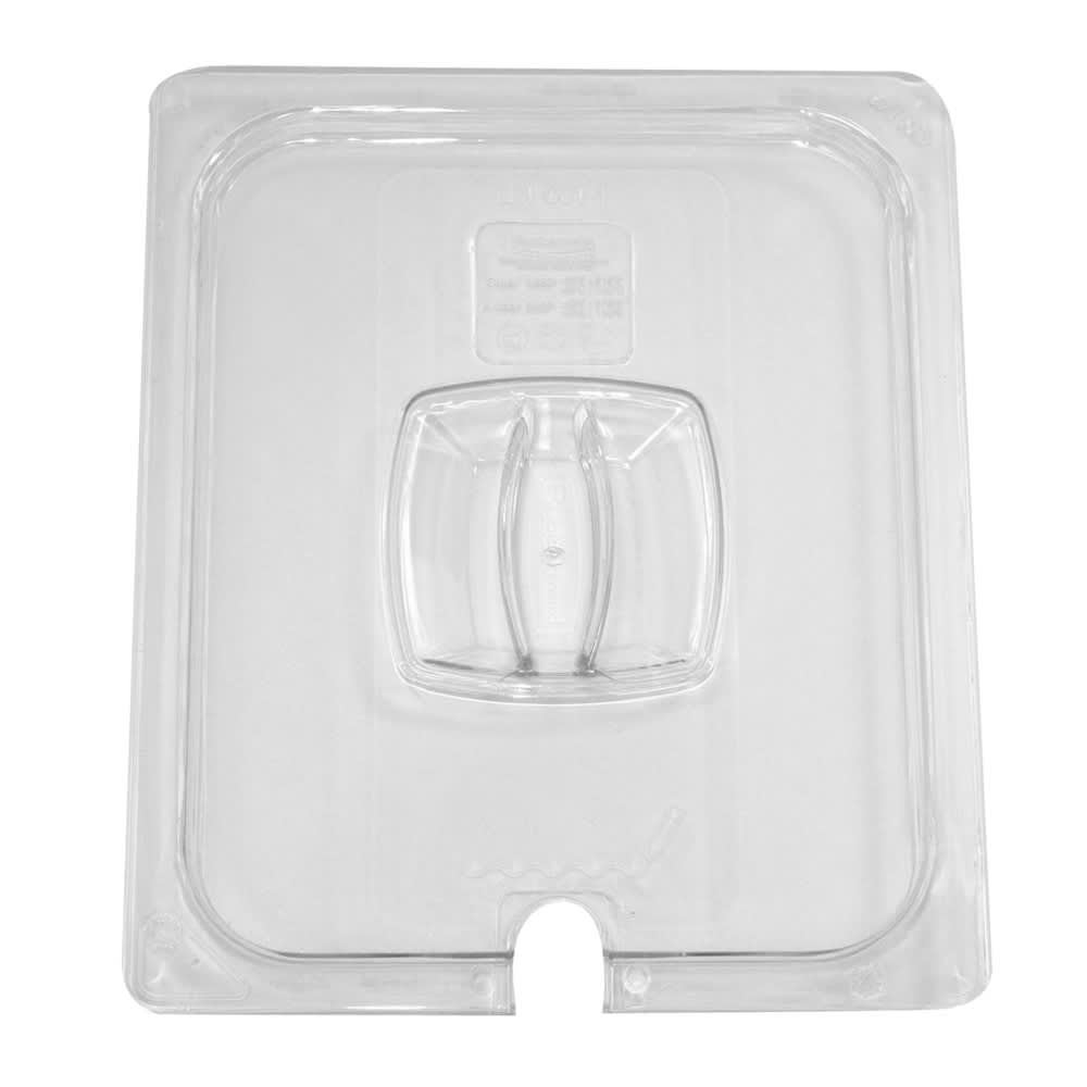 Rubbermaid FG128P86CLR Cold Food Pan Cover - Notched, Half Size, Clear Poly