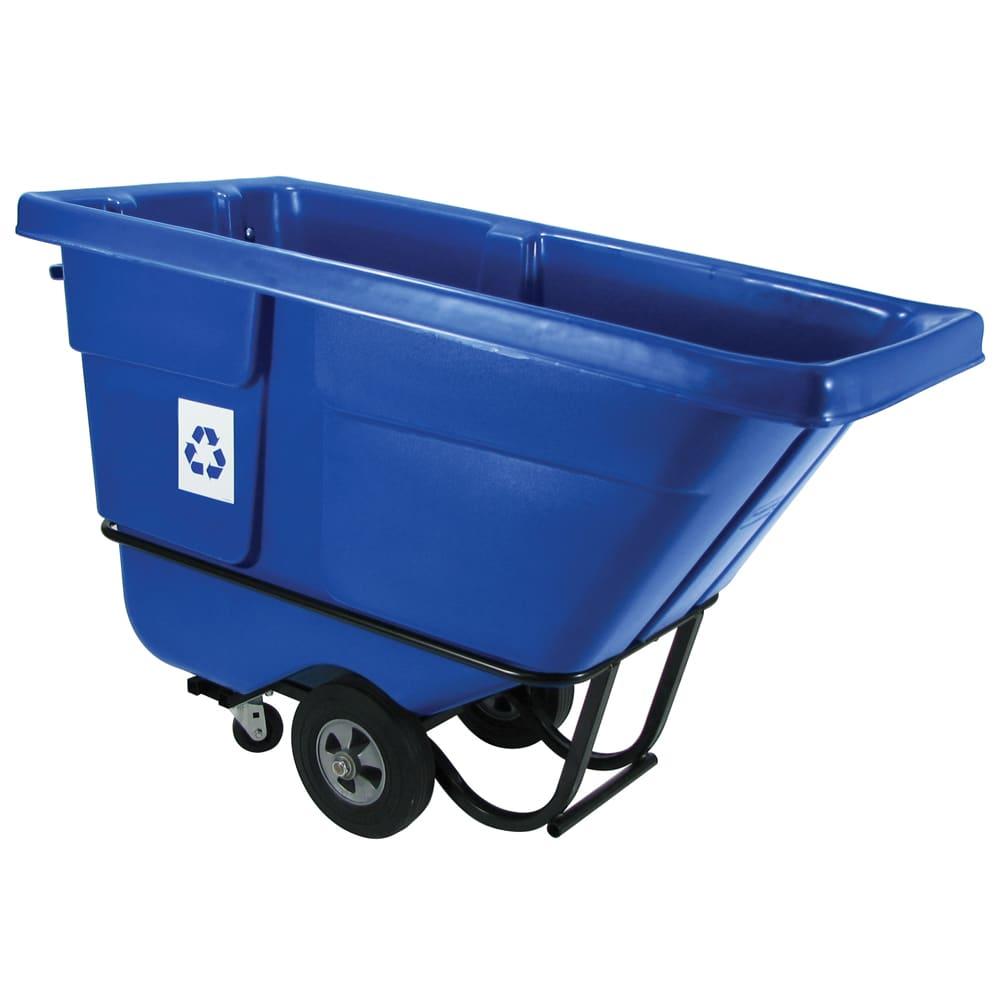 Rubbermaid FG130573BLUE .5 cu yd Trash Cart w/ 750 lb Capacity, Blue