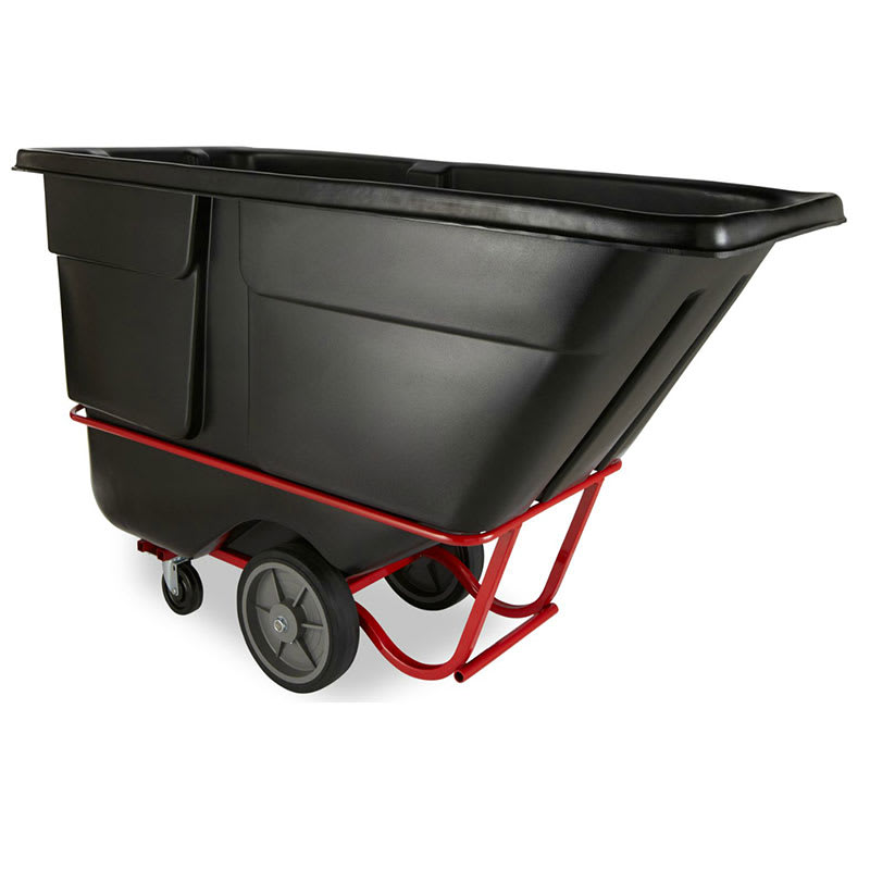 Rubbermaid FG131600BLA 1 cu yd Trash Cart w/ 2000 lb Capacity, Black