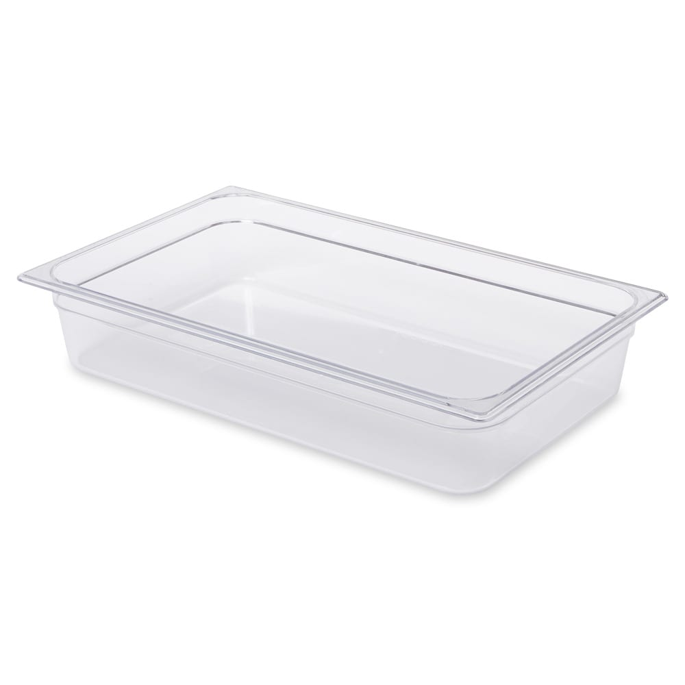 "Rubbermaid FG131P00CLR Cold Food Pan - Full Size, 4"" Deep"