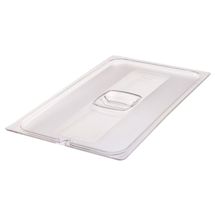 Rubbermaid FG134P86CLR Cold Food Pan Cover - Notched, Full Size, Clear Poly