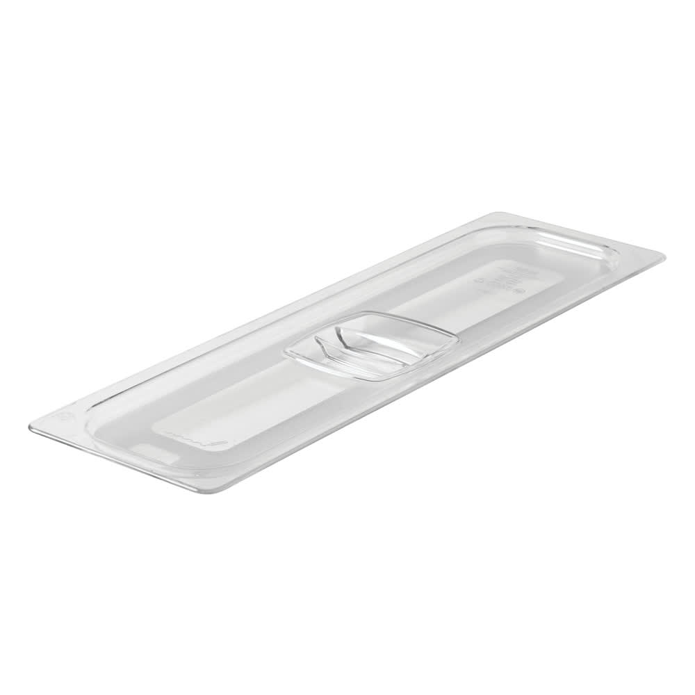 Rubbermaid FG141P00CLR Cold Food Pan Cover - Half Size Long, Clear Poly