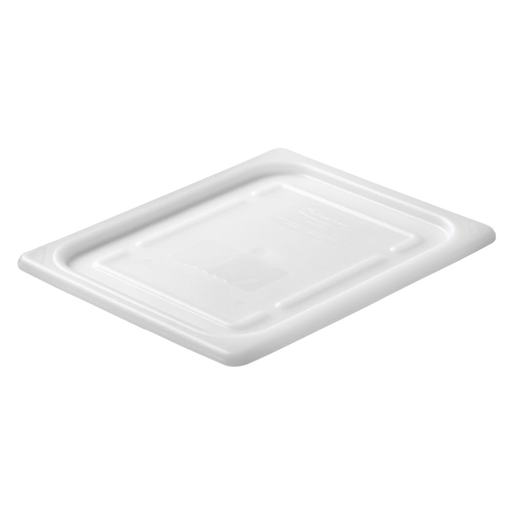 Rubbermaid FG146P00WHT Cold Food Soft Sealing Lid - Half Size, Poly, White