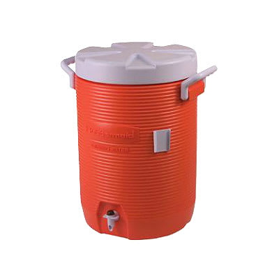 Rubbermaid FG16100111 10 gal Cold Beverage Container - Poly, Orange
