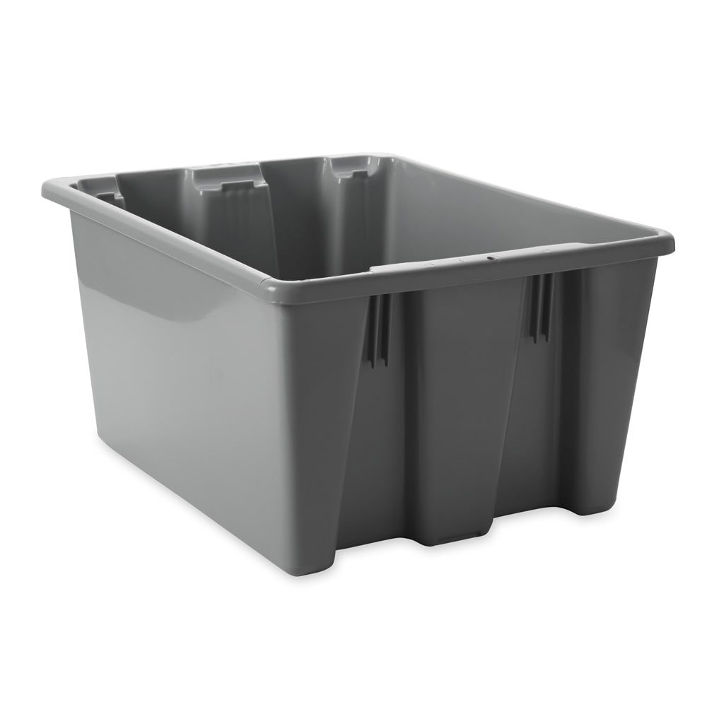 "Rubbermaid FG173100GRAY Palletote Box - 23 1/2x19 1/2x10"" Gray"