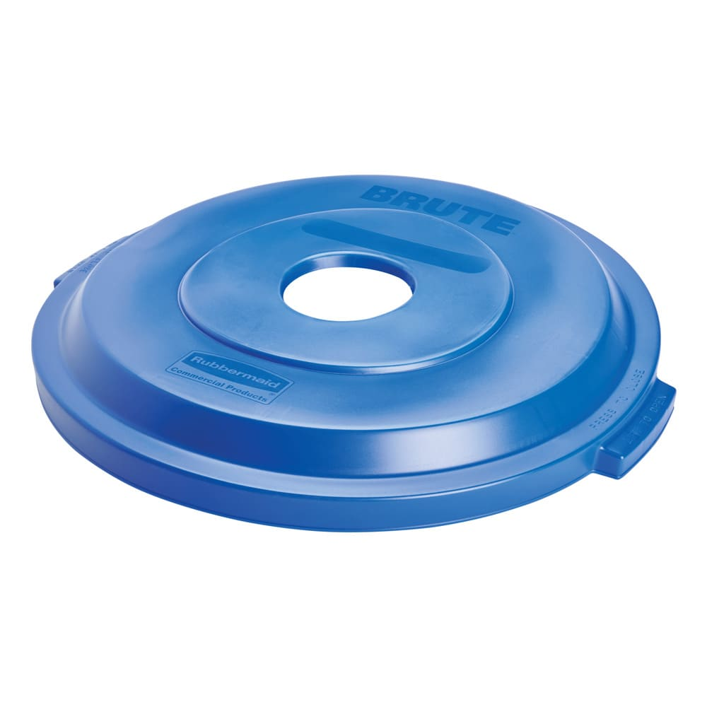 Rubbermaid 1788376 Round Recycling Trash Can Lid - Plastic, Blue