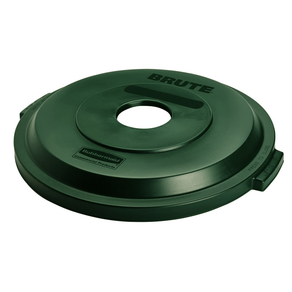 Rubbermaid 1788377 Round Recycling Trash Can Lid - Plastic, Green