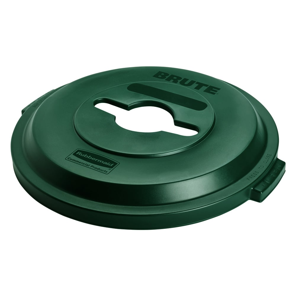 Rubbermaid 1788471 Round Recycling Trash Can Lid - Plastic, Green