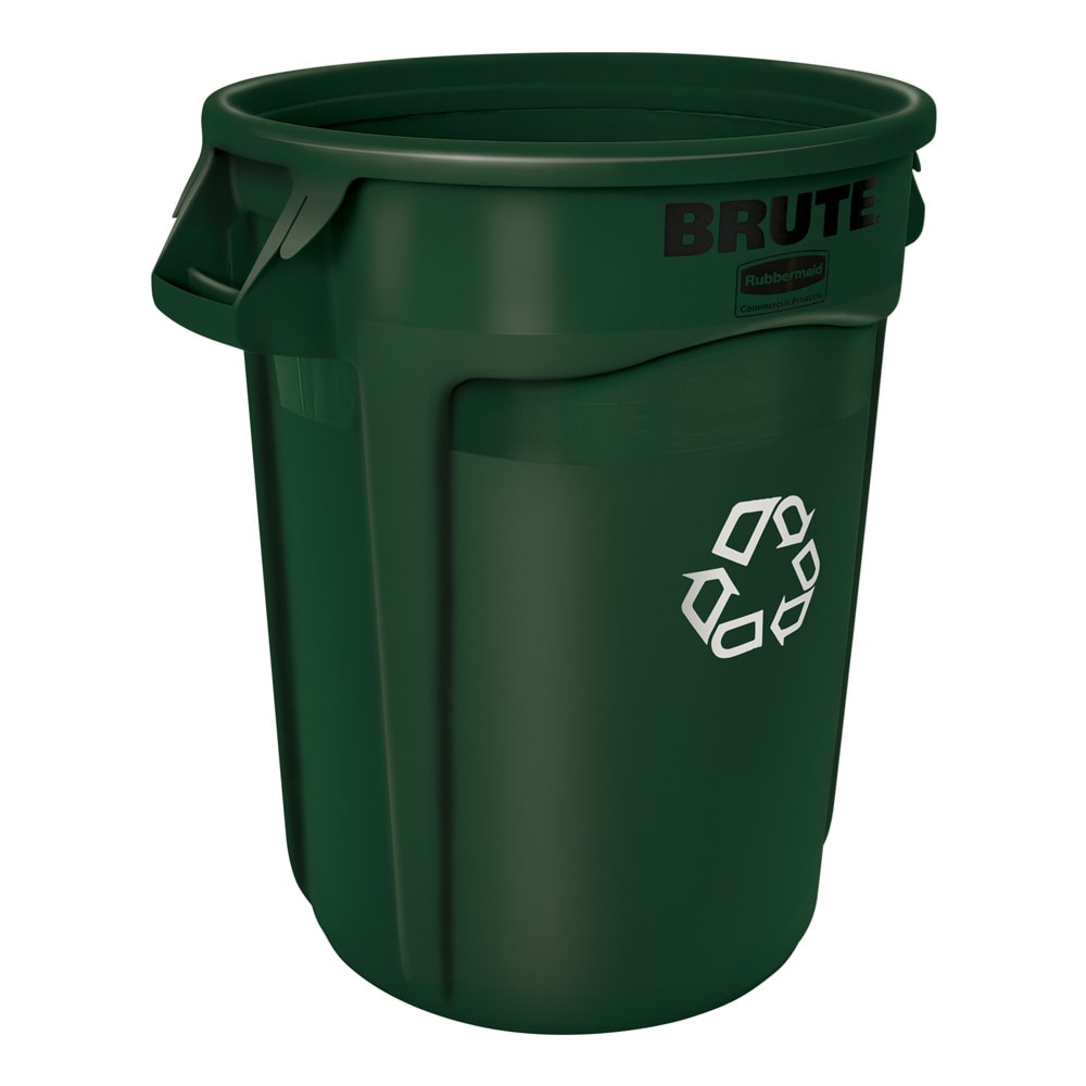Rubbermaid 1788472 32 gal Multiple Material Recycle Bin - Indoor/Outdoor