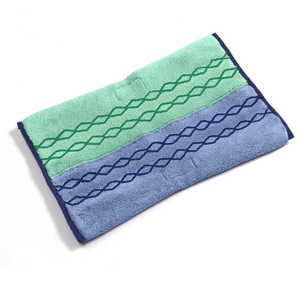 Rubbermaid 1791679 Microfiber Wet/Scrub Mop Plus Head - Double-Sided, Green/Blue