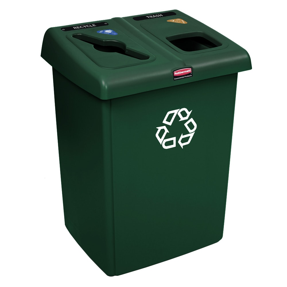 Rubbermaid 1792340 46 gal Multiple Material Recycle Bin - Indoor, Multiple Sections