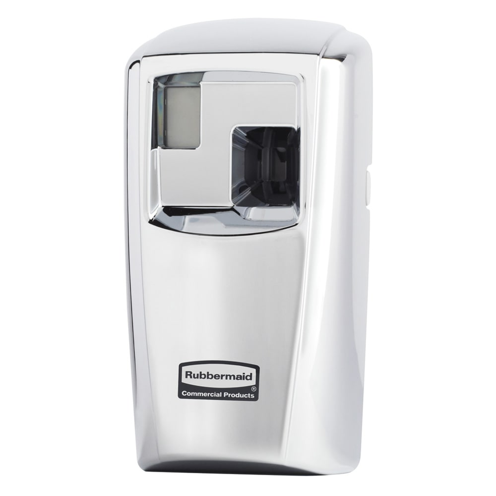 Rubbermaid 1793533 Microburst® 3000 Aerosol Odor Control System w/ LCD Dispenser, Chrome