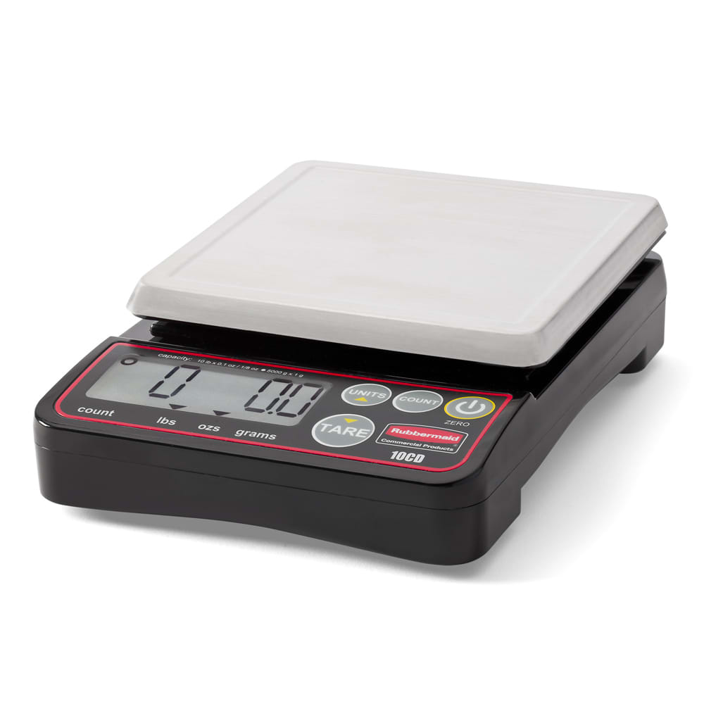 Rubbermaid 1812589 Digital Portion Control Scale - 10-lb Capacity, Stainless