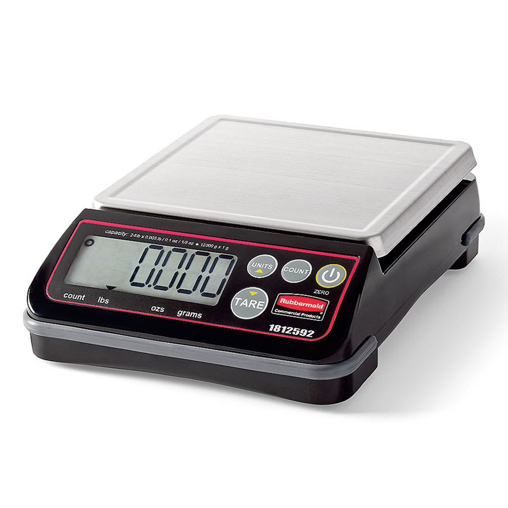 Rubbermaid 1812592 Digital Portion Control Scale - 24 lb Capacity, Stainless