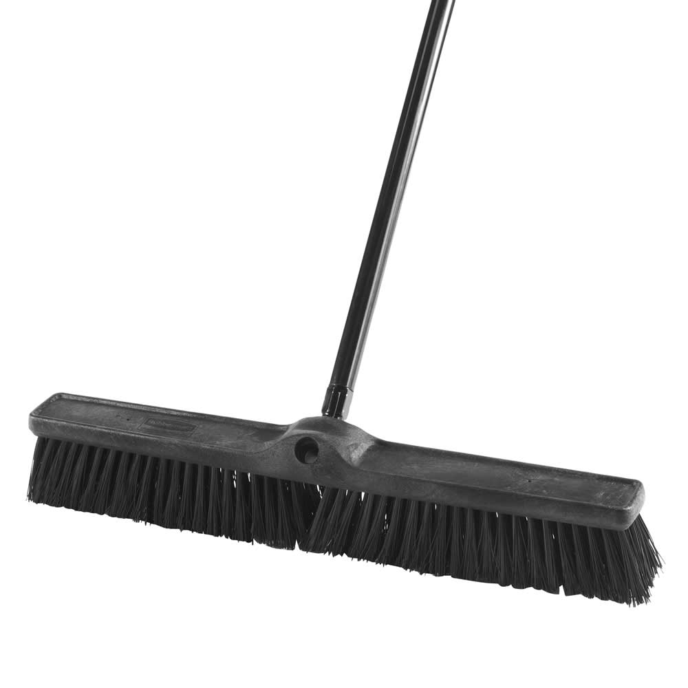 "Rubbermaid 1861212 24"" Heavy-Duty Sweep Push Broom - Rough Surface"